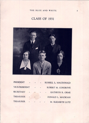 Page 7, 1931 Edition, Hope High School - Blue and White Yearbook (Providence, RI) online yearbook collection