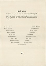 Page 9, 1943 Edition, Hope High School - Blue and White Yearbook (Providence, RI) online yearbook collection