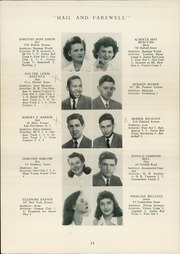Page 16, 1944 Edition, Hope High School - Blue and White Yearbook (Providence, RI) online yearbook collection