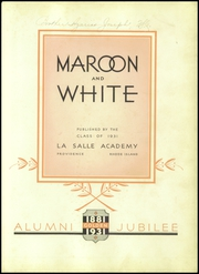 Page 7, 1931 Edition, La Salle Academy - Maroon and White Yearbook (Providence, RI) online yearbook collection