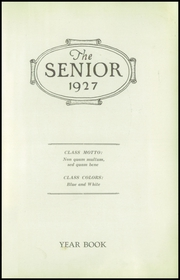 Page 5, 1927 Edition, Westerly High School - Bulldog Yearbook (Westerly, RI) online yearbook collection
