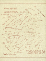 Warren High School - Wampum Yearbook (Warren, RI) online yearbook collection, 1942 Edition, Page 1