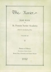 Page 7, 1930 Edition, St Francis Xavier Academy - Xavier Yearbook (Providence, RI) online yearbook collection