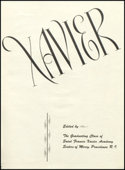 Page 5, 1947 Edition, St Francis Xavier Academy - Xavier Yearbook (Providence, RI) online yearbook collection