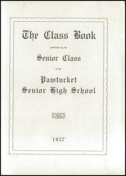Page 5, 1927 Edition, Pawtucket High School - Redjacket Yearbook (Pawtucket, RI) online yearbook collection