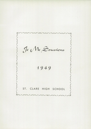 Page 5, 1949 Edition, St Clare High School - Je Me Souviens Yearbook (Woonsocket, RI) online yearbook collection