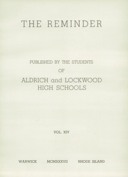 Page 7, 1937 Edition, Aldrich High School - Reminder Yearbook (Lakewood, RI) online yearbook collection