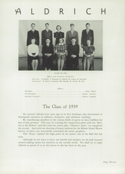 Page 15, 1939 Edition, Aldrich High School - Reminder Yearbook (Lakewood, RI) online yearbook collection