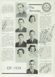 Page 17, 1939 Edition, Aldrich High School - Reminder Yearbook (Lakewood, RI) online yearbook collection