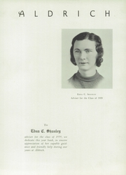 Page 9, 1939 Edition, Aldrich High School - Reminder Yearbook (Lakewood, RI) online yearbook collection