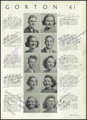 Page 15, 1941 Edition, Gorton High School - Echo Yearbook (Warwick, RI) online yearbook collection