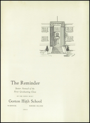 Page 5, 1941 Edition, Gorton High School - Echo Yearbook (Warwick, RI) online yearbook collection