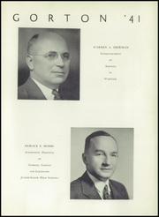 Page 7, 1941 Edition, Gorton High School - Echo Yearbook (Warwick, RI) online yearbook collection