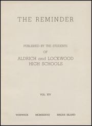 Page 7, 1937 Edition, Lockwood High School - Reminder Yearbook (Warwick, RI) online yearbook collection