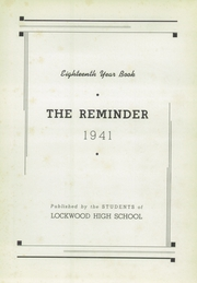Page 7, 1941 Edition, Lockwood High School - Reminder Yearbook (Warwick, RI) online yearbook collection