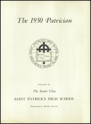 Page 5, 1950 Edition, St Patricks High School - Patrician Yearbook (Providence, RI) online yearbook collection