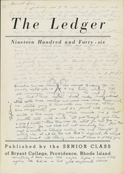 Page 5, 1946 Edition, Bryant University - Ledger Yearbook (Smithfield, RI) online yearbook collection
