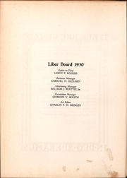 Page 13, 1930 Edition, Brown University - Liber Brunensis Yearbook (Providence, RI) online yearbook collection