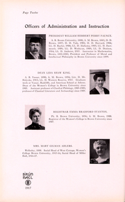 Page 10, 1917 Edition, Brown University Womens College - Brun Mael Yearbook (Providence, RI) online yearbook collection