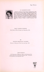 Page 11, 1917 Edition, Brown University Womens College - Brun Mael Yearbook (Providence, RI) online yearbook collection