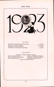 Page 17, 1923 Edition, Brown University Womens College - Brun Mael Yearbook (Providence, RI) online yearbook collection