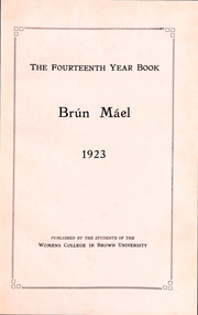 Page 3, 1923 Edition, Brown University Womens College - Brun Mael Yearbook (Providence, RI) online yearbook collection