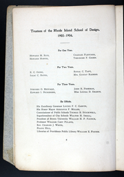 Page 10, 1906 Edition, Rhode Island School of Design - Yearbook (Providence, RI) online yearbook collection