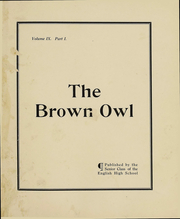 Page 2, 1911 Edition, English High School - Brown Owl Yearbook (Providence, RI) online yearbook collection