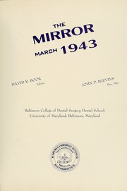 Page 5, 1943 Edition, University of Maryland Baltimore Dental School - Mirror Yearbook (Baltimore, MD) online yearbook collection
