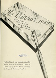 Page 7, 1947 Edition, University of Maryland Baltimore Dental School - Mirror Yearbook (Baltimore, MD) online yearbook collection