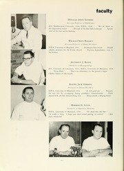 Page 12, 1960 Edition, University of Maryland Baltimore Dental School - Mirror Yearbook (Baltimore, MD) online yearbook collection