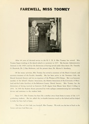 Page 10, 1961 Edition, University of Maryland Baltimore Dental School - Mirror Yearbook (Baltimore, MD) online yearbook collection