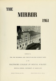 Page 5, 1961 Edition, University of Maryland Baltimore Dental School - Mirror Yearbook (Baltimore, MD) online yearbook collection