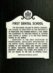 Page 1, 1972 Edition, University of Maryland Baltimore Dental School - Mirror Yearbook (Baltimore, MD) online yearbook collection