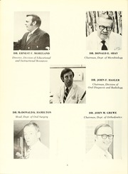 Page 10, 1972 Edition, University of Maryland Baltimore Dental School - Mirror Yearbook (Baltimore, MD) online yearbook collection