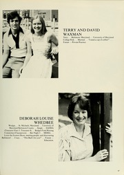 Page 71, 1980 Edition, University of Maryland Baltimore Dental School - Mirror Yearbook (Baltimore, MD) online yearbook collection
