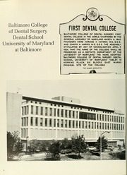Page 10, 1981 Edition, University of Maryland Baltimore Dental School - Mirror Yearbook (Baltimore, MD) online yearbook collection