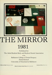 Page 5, 1981 Edition, University of Maryland Baltimore Dental School - Mirror Yearbook (Baltimore, MD) online yearbook collection
