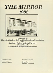 Page 5, 1982 Edition, University of Maryland Baltimore Dental School - Mirror Yearbook (Baltimore, MD) online yearbook collection