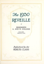 Page 7, 1930 Edition, Mississippi State University - Reveille Yearbook (Starkville, MS) online yearbook collection