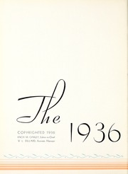 Page 6, 1936 Edition, Mississippi State University - Reveille Yearbook (Starkville, MS) online yearbook collection