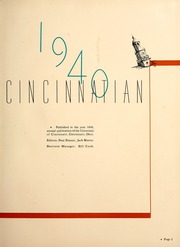 Page 7, 1940 Edition, University of Cincinnati - Cincinnatian Yearbook (Cincinnati, OH) online yearbook collection