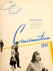 Page 7, 1941 Edition, University of Cincinnati - Cincinnatian Yearbook (Cincinnati, OH) online yearbook collection