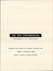 Page 5, 1949 Edition, University of Cincinnati - Cincinnatian Yearbook (Cincinnati, OH) online yearbook collection