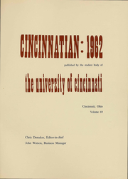 Page 2, 1962 Edition, University of Cincinnati - Cincinnatian Yearbook (Cincinnati, OH) online yearbook collection