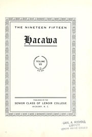 Page 7, 1915 Edition, Lenoir Rhyne College - Hacawa Yearbook (Hickory, NC) online yearbook collection