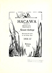 Page 5, 1917 Edition, Lenoir Rhyne College - Hacawa Yearbook (Hickory, NC) online yearbook collection