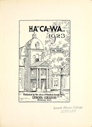 Page 7, 1923 Edition, Lenoir Rhyne College - Hacawa Yearbook (Hickory, NC) online yearbook collection