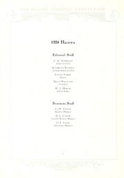 Page 10, 1924 Edition, Lenoir Rhyne College - Hacawa Yearbook (Hickory, NC) online yearbook collection