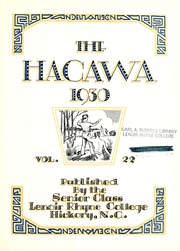 Page 9, 1930 Edition, Lenoir Rhyne College - Hacawa Yearbook (Hickory, NC) online yearbook collection